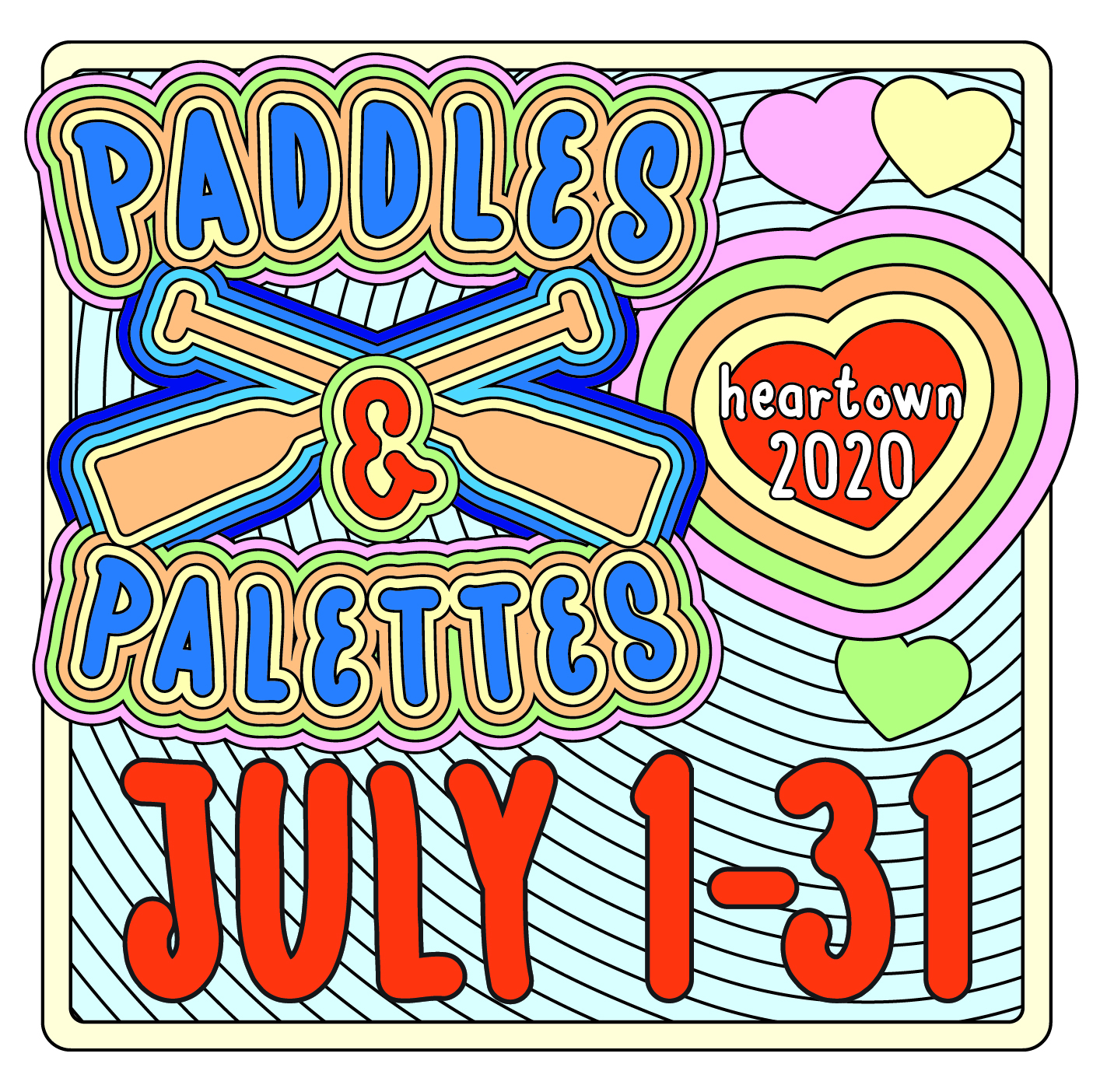 Paddles and Palettes - Heartown 2020