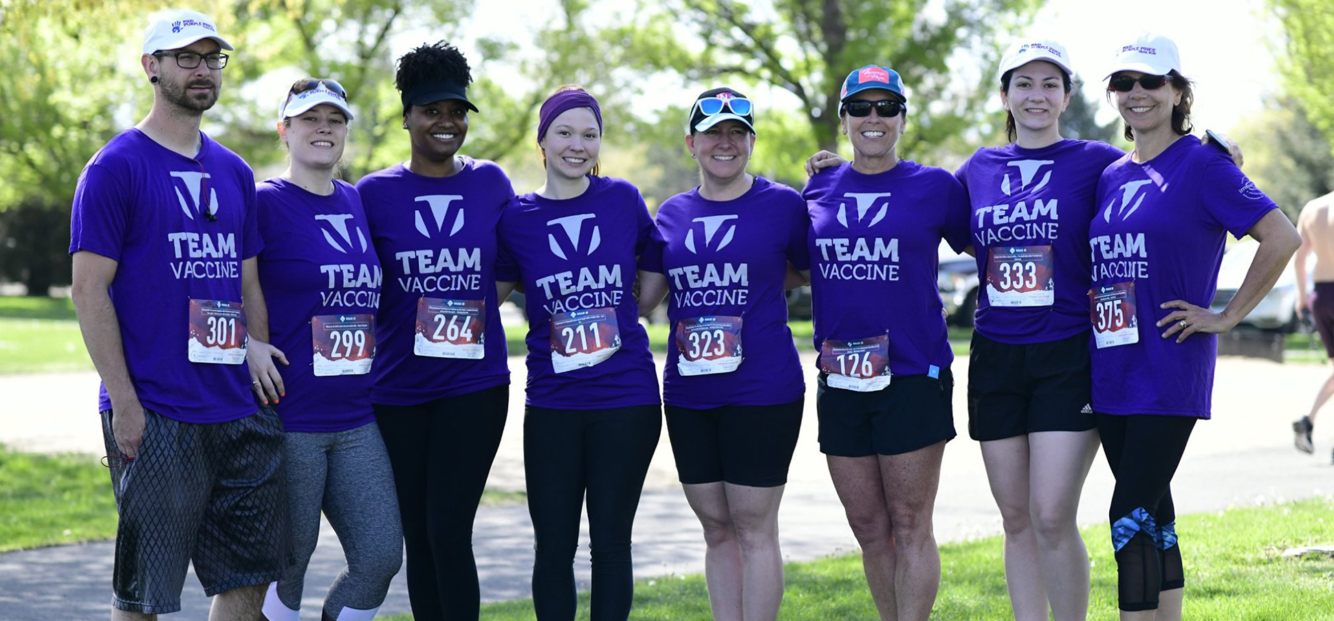 Group of Team Vaccine runners at event